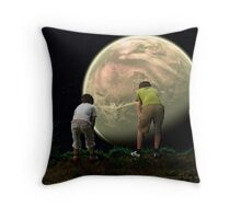 Boys Looking Over the World Throw Pillow