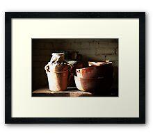 Timeless Pottery Framed Print