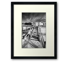 Good Morning Huts! BW Framed Print