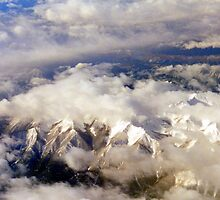 Canadian Rockies From The Sky by vette