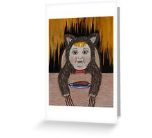 live with wolves and learn to howl (2011) Greeting Card