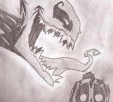 Venom Symbiote Deadpool by RagingCuppCakes