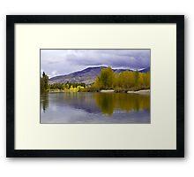 Golden light on a grey day  Framed Print