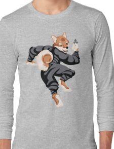 Shiba Inu Ninja Long Sleeve T-Shirt