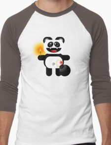 PANDA 4  (Cute pet has a bomb and its alight!) Men's Baseball ¾ T-Shirt