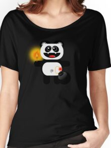 PANDA 4  (Cute pet has a bomb and its alight!) Women's Relaxed Fit T-Shirt