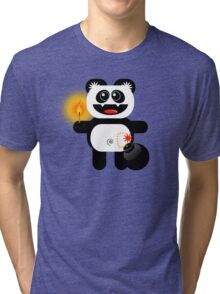 PANDA 4  (Cute pet has a bomb and its alight!) Tri-blend T-Shirt