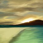 The Island sunset by komaro