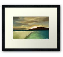 The Island sunset Framed Print