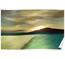 The Island sunset Poster
