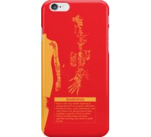Bionic Arm Warning Shirt iPhone Case/Skin