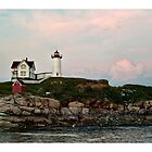Nubble Light Sunset by Richard Bean