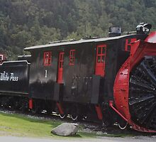 An old rotary snow plow in Skagway, Alaska by DonnaMoore