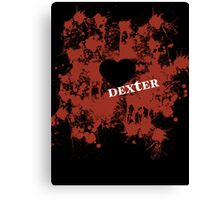 Dexter - love blood splatter Canvas Print