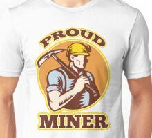 coal miner pick axe shovel retro Unisex T-Shirt