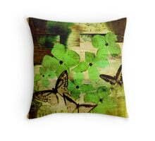 Chartreuse Petals Throw Pillow