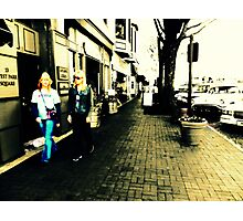 Movement on a city street at midday Photographic Print