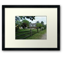Landis Valley Entrance Summer Framed Print