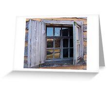 Landis Valley Log Cabin Window Greeting Card