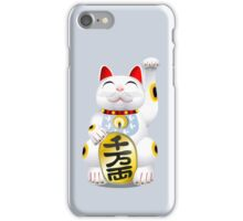 Money Cat Grey iPhone Case - Eyes Closed iPhone Case/Skin