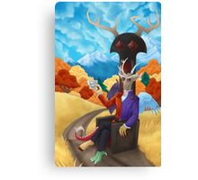 Teatime with Chaos Canvas Print