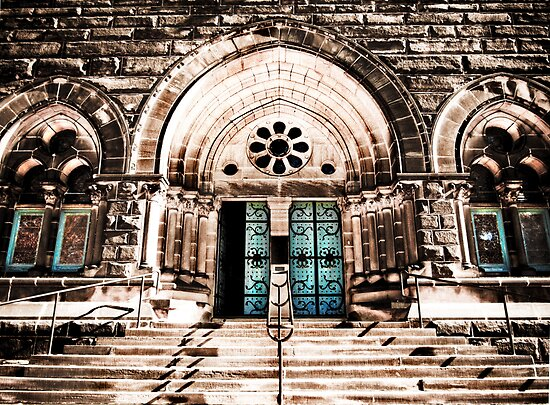 Doors to the James A. Garfield Monument by Marcia Rubin
