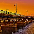 Sunset over Harvard Bridge by LudaNayvelt