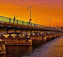 Sunset over Harvard Bridge by LudaNayvelt