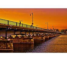 Sunset over Harvard Bridge Photographic Print