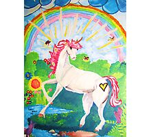 Yoyo the Unicorn Photographic Print