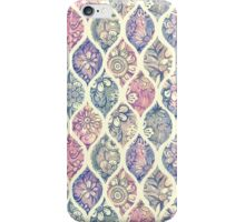 Patterned & Painted Floral Ogee in Vintage Tones iPhone Case/Skin
