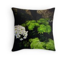 Green Bouquets Throw Pillow