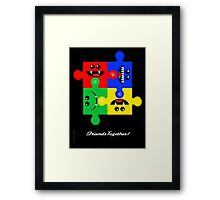 FRIENDS TOGETHER Framed Print