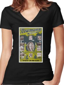 Newmann the Great - 1916 Vintage Poster Restored Women's Fitted V-Neck T-Shirt