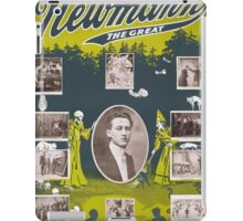 Newmann the Great - 1916 Vintage Poster Restored iPad Case/Skin