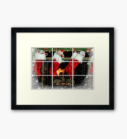 Home For Christmas Framed Print