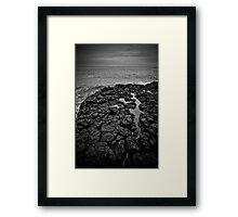 Basalt formations at Don Headlands Framed Print