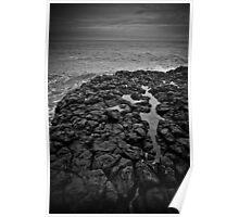 Basalt formations at Don Headlands Poster