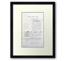 Grand Union Canal Share Certificate from 1793 Framed Print