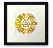 Protection Runes - Walknut Framed Print