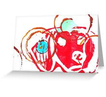 Red dog. Greeting Card