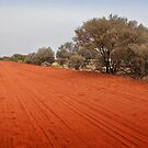 Outback red dirt road by Roger Neal