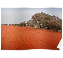 Outback red dirt road Poster