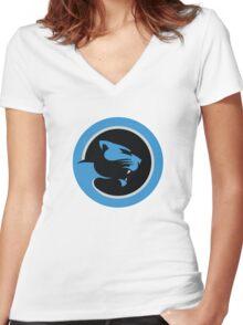 Carolina Panthers Logo 1 Women's Fitted V-Neck T-Shirt