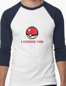 I Choose You - Pixel Pokeball Men's Baseball ¾ T-Shirt