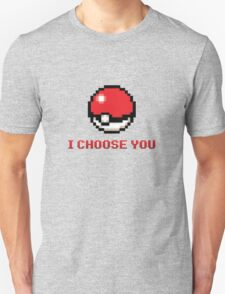 I Choose You - Pixel Pokeball Unisex T-Shirt
