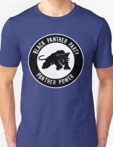 New Black Panther Party Logo Malcolm X Men's White Black T-Shirt T-Shirt