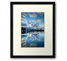 Mirrored Clouds Framed Print