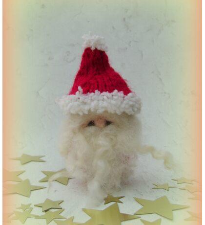 Little Santa - Handmade needle felted creation from Teddy Bear Orphans Sticker