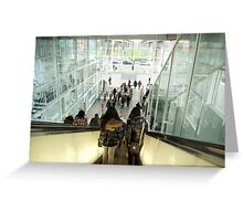 Glass world exit into reality Greeting Card